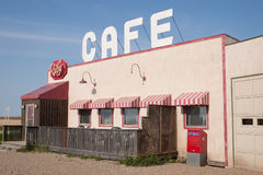 The Ruby Cafe from Corner Gas. ROULEAU, SASKATCHEWAN - AUGUST 3: The outdoor filming location for the TV sitcom 'Corner Gas' on August 3rd, 2006 in Rouleau Royalty Free Stock Photos