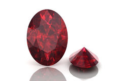 Ruby ,Citrine Royalty Free Stock Image