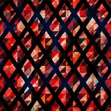 Ruby color mosaic seamless pattern with grunge effect Stock Photo