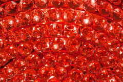 Ruby crystal pattern from a Chandelier Stock Photo