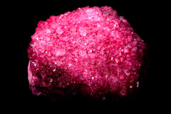 Ruby Crystals. Natural ruby crystals isolated over a black background Royalty Free Stock Image