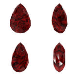 Ruby cut diamond different view Stock Photo