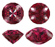 Ruby cut jewel isolated Royalty Free Stock Photography