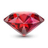 Ruby. 3d image. white background vector illustration