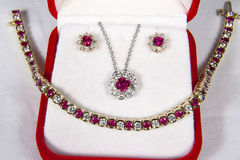 Ruby and Diamond Jewelry Stock Photos