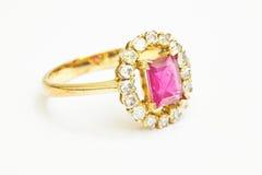 Ruby and Diamond Royalty Free Stock Photos
