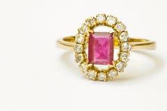 Ruby and Diamond Stock Photo