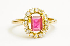 Ruby and Diamond Ring Royalty Free Stock Image