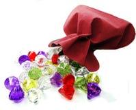 Ruby diamonds topaz emerald gem stones crystals Royalty Free Stock Photos