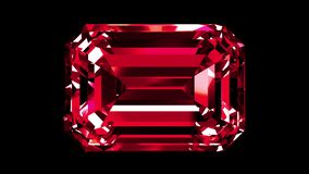Ruby Emerald Cut iridescente collegato royalty illustrazione gratis