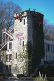 Ruby Falls sign on stone at Christmas in Tennessee. Stock Photos
