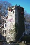 Ruby Falls tecken på stenen på jul i Tennessee Arkivfoton