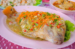 Ruby fish steamed with lemon Royalty Free Stock Photo
