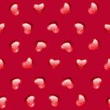 Ruby Gem Hearts Seamless Pattern lizenzfreie stockfotografie
