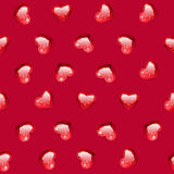 Ruby Gem Hearts Seamless Pattern Royalty Free Stock Photography