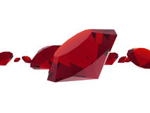 Ruby gems Stock Image