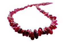 Ruby gemstone beads necklace jewelery Stock Image