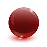Ruby glassy ball Stock Photography