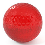 Ruby Golf Ball isolated on white Stock Photos
