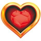 Ruby heart Royalty Free Stock Photos
