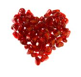 Ruby heart Stock Images