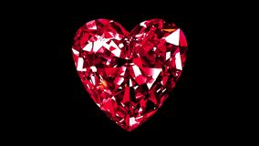 Ruby Heart Cut iridescente collegato illustrazione di stock