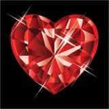 Ruby heart.  illustration Stock Photography