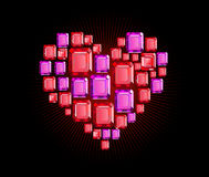 Ruby Heart Royalty Free Stock Image