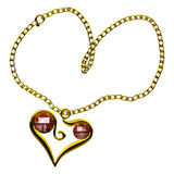 Ruby heart necklace Royalty Free Stock Image