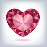 Ruby heart-shaped Royalty Free Stock Images