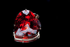 Ruby heart-shaped precious stone Stock Image