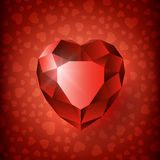 Ruby heart valentine-01 Royalty Free Stock Image