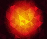 Ruby heart. Vector abstract ruby triangulated background in eps 10 Royalty Free Stock Photos