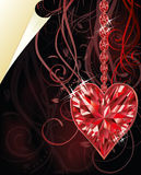 Ruby heart, wedding valentines day Royalty Free Stock Photo