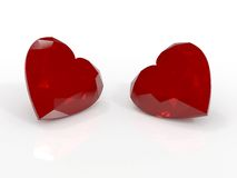 Ruby hearts Royalty Free Stock Photos