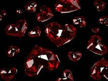 Ruby hearts Royalty Free Stock Photo