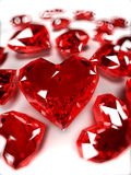 Ruby hearts Royalty Free Stock Photography