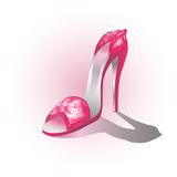 Ruby high heel shoe Royalty Free Stock Photography