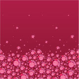 Ruby horizontal seamless pattern background border Royalty Free Stock Photo