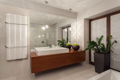 Ruby house - contemporary bathroom Stock Photos