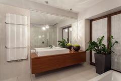 Ruby house - contemporary bathroom Stock Photos