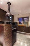 Ruby house - Modern kitchen interior Royalty Free Stock Photo