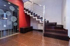 Ruby house - Modern staircase Royalty Free Stock Photo