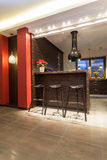 Ruby house - Bar stools in kitchen Royalty Free Stock Photography