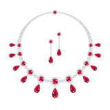 Ruby jewellery stock illustration