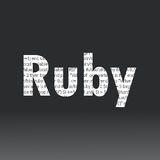 Ruby language sign Stock Photography