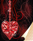 Ruby love heart wedding valentines day Royalty Free Stock Images
