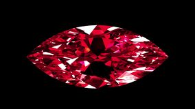 Ruby Marquise Cut iridescente collegato illustrazione vettoriale