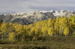 Ruby Mountain Range vid det Kebler passerandet Colorado Royaltyfria Bilder