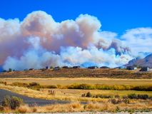Ruby Mountain Wildland Fire stock image